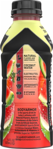 BODYARMOR SuperDrink Watermelon Strawberry Sports Drink Perspective: left