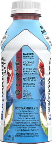 BODYARMOR Lyte Blueberry Pomegranate Sports Drink Perspective: left