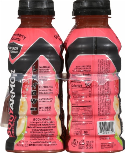 BODYARMOR SuperDrink Strawberry Banana Sports Drink Perspective: left