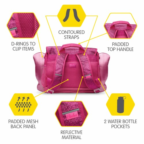 Bixbee Small Sparkalicious Butterflyer Backpack - Ruby Perspective: left