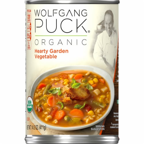 Wolfgang Puck Organic Hearty Garden Vegetable Soup Perspective: left