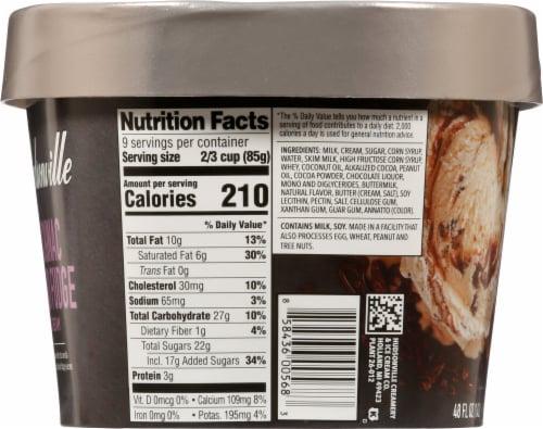 Hudsonville Premium MacKinac Island Fudge Ice Cream Perspective: left