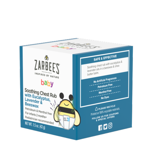 Zarbee's Naturals Baby Soothing Chest Rub Perspective: left