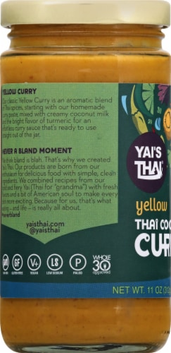 Yai's Thai Thai Yellow Coconut Curry Perspective: left