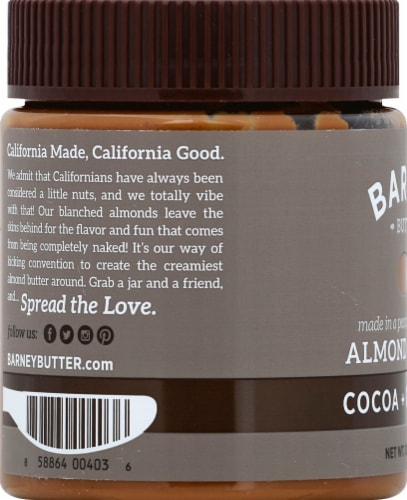 Barney & Co. Cocoa & Coconut Almond Butter Perspective: left