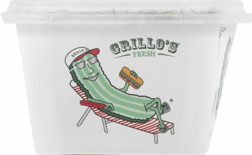 Grillo's Pickles Sandwich Makers Dill Pickle Slices Perspective: left