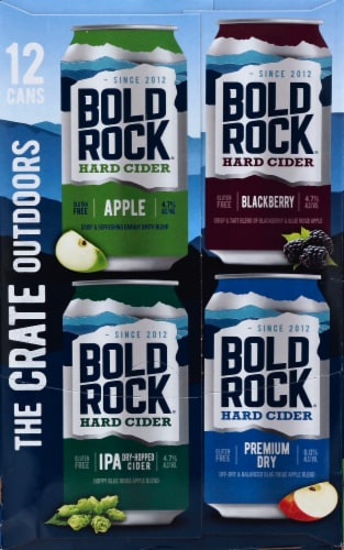 Bold Rock The Crate Outdoors Hard Cider Variety Pack Perspective: left