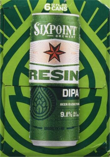 Sixpoint Resin IIPA Beer Perspective: left
