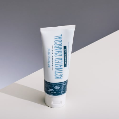 Schmidt's™ Flouride-Free Wondermint Toothpaste with Activated Charcoal Perspective: left