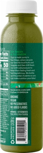 Suja Organic Uber Greens Juice Drink Perspective: left