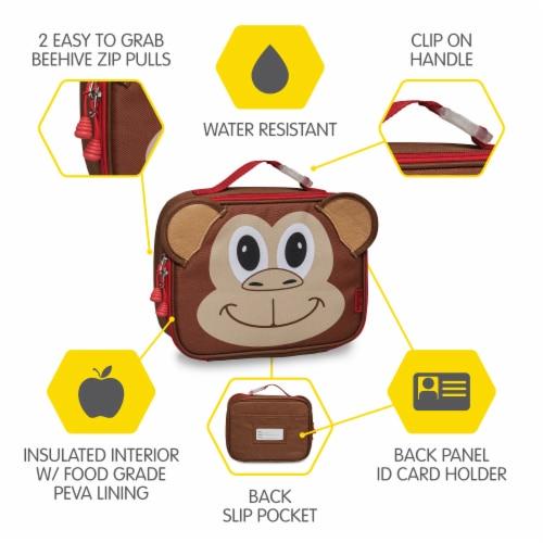 Bixbee Animal Pack Monkey Lunchbox Perspective: left