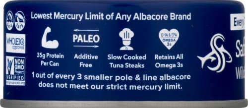 Safe Catch® No Salt Added Wild Albacore Tuna Perspective: left