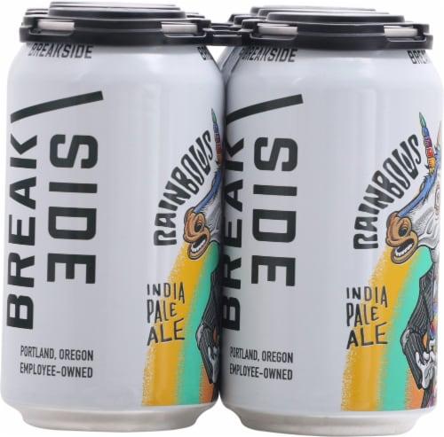 Breakside Brewery Rainbows & Unicorns IPA Perspective: left