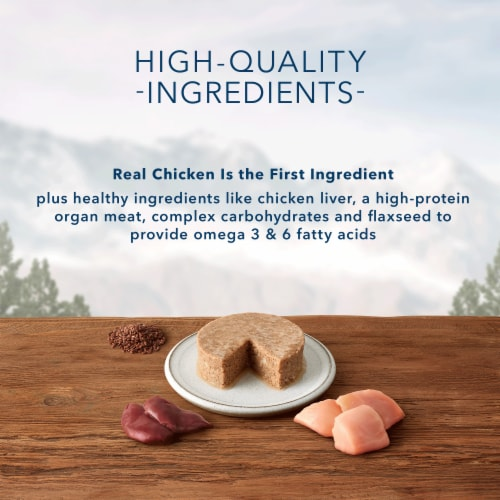 Blue Wilderness High Protein Grain Free Chicken Recipe Natural Kitten Pate Wet Cat Food Perspective: left