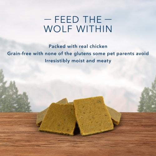 Blue Wilderness Trail Treats Wild Bites Chicken Recipe Dog Treats Perspective: left