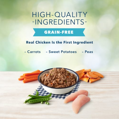 Blue Buffalo Freedom Grain-Free Chicken Recipe for Small Breed Dog Food Perspective: left