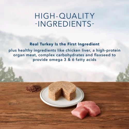 Blue Wilderness Turkey Recipe Adult Wet Cat Food Perspective: left