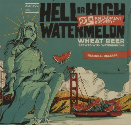 21st Amendment Seasonal Beer Perspective: left
