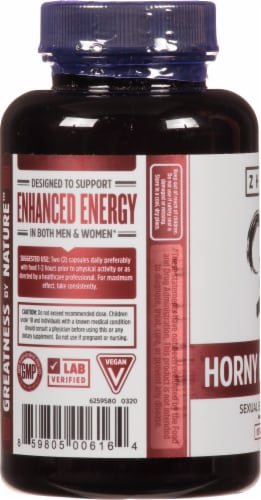 Zhou® Horny Goat Weed Vitamin Supplements Perspective: left