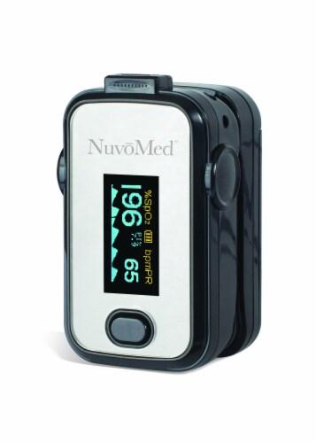 NuvoMed Fingertip Blood Oxygen Pulse Oximeter Perspective: left