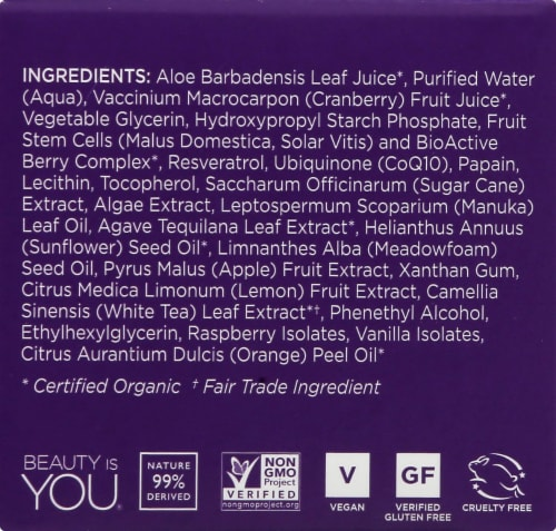 Andalou Naturals BioActive 8 Berry Enzyme Mask Perspective: left