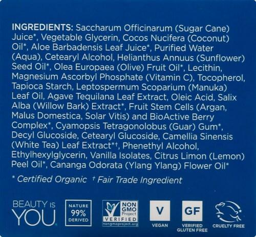 Andalou Naturals Lemon Sugar Facial Scrub Perspective: left
