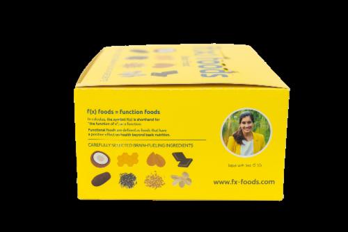 Brain Food - 12 pack gluten free, all-natural nutrition bar, granola bar, fx foods Perspective: left