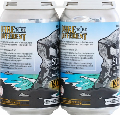 Surreal Brewing Company Natural Bridges Kolsch Style Malt Beverage Perspective: left