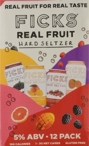 Ficks® Real Fruit Hard Seltzer Variety Pack Perspective: left