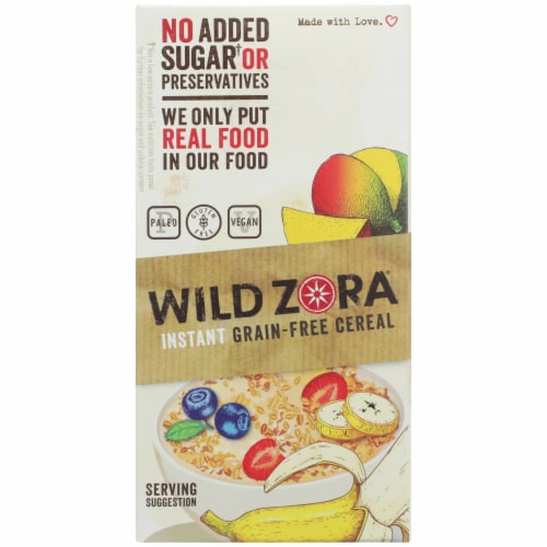 Wild Zora Instant Grain-Free Hot Cereal Variety Pack Perspective: left