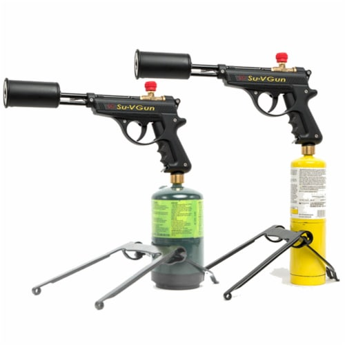 GrillBlazer SU-VGun Basic Propane Torch Gun for Outdoor Cooking and Grilling Perspective: left