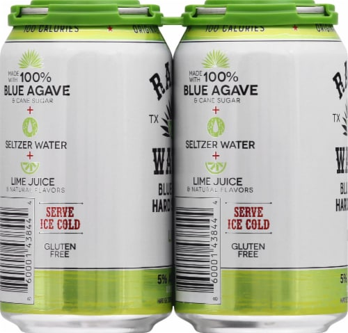 Ranch Water Lime Blue Agave Hard Seltzer Perspective: left