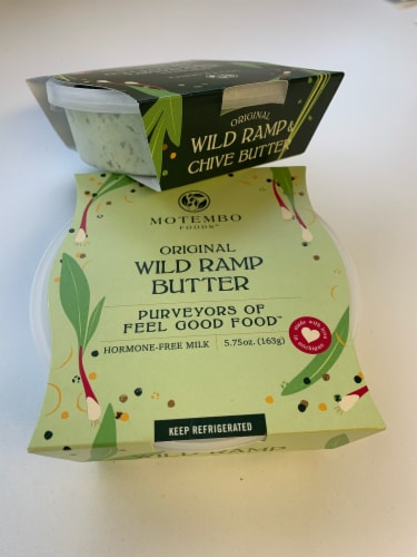 Combo Pack 2 Pack – One Wild Ramp Butter and One Wild Ramp & Chive Butter Perspective: left