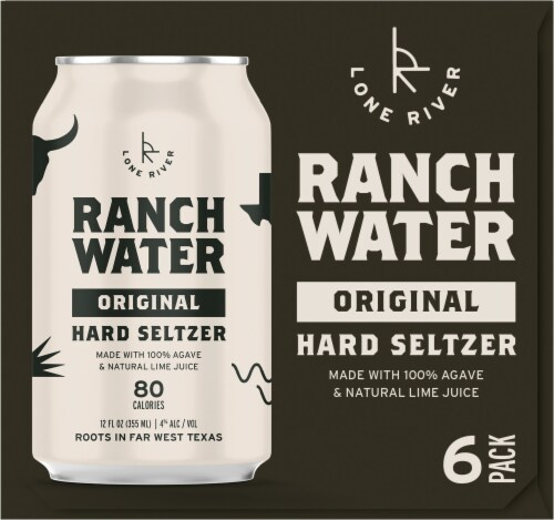 Lone River Ranch Water Original Hard Seltzer Perspective: left