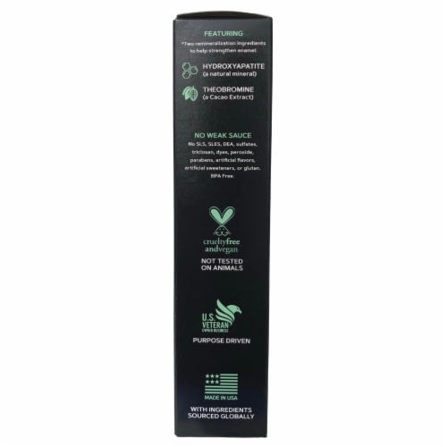 Grind Activated Charcoal Whitening Toothpaste w/ Hydroxyapatite, Fluoride-Free, Vegan, (4oz) Perspective: left