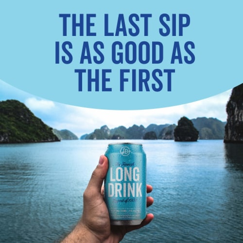The Finnish Long Drink Traditional Citrus Cocktail Perspective: left