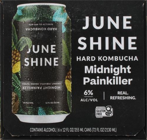 JuneShine Midnight Painkiller Hard Kombucha Perspective: left