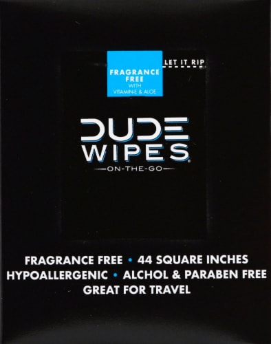 DUDE Wipes Flushable Wipe Travel Packets Perspective: left