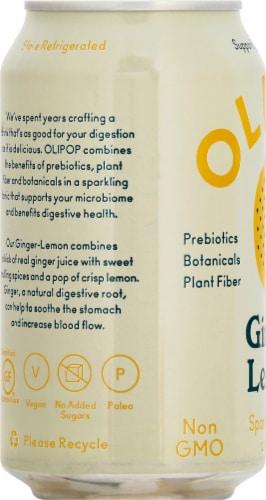 Olipop Ginger Lemon Sparkling Tonic Perspective: left