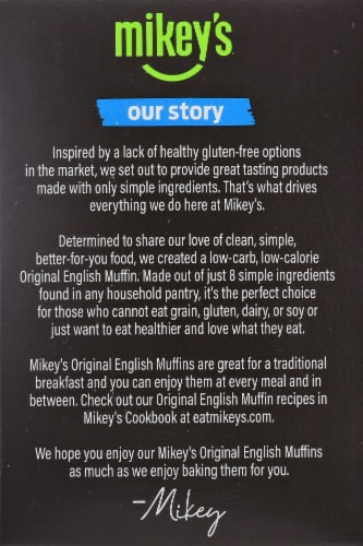 Mikey's Muffins Original English Muffins Perspective: left