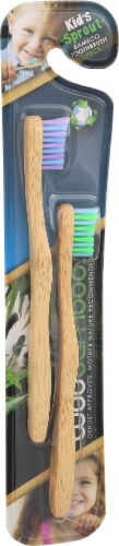 Woobamboo Sprouts 2 Pack Toothbrush Perspective: left