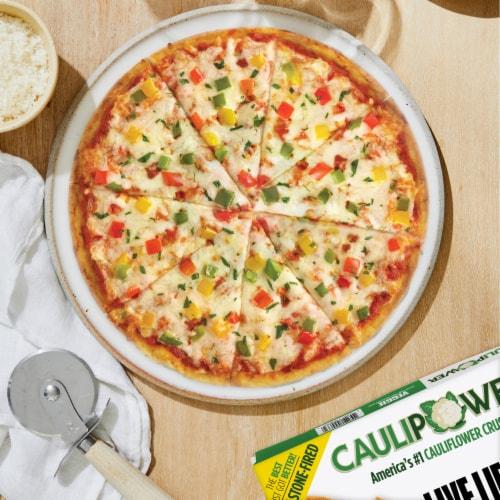 Caulipower Stone-Fired Veggie Cauliflower Crust Pizza Perspective: left