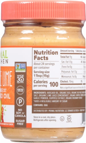 Primal Kitchen Avocado Oil Chipotle Lime Mayo Perspective: left