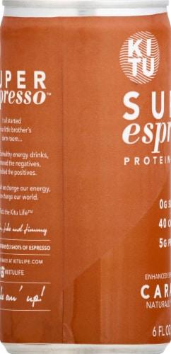Super Espresso Caramel Enhanced Espresso Beverage Perspective: left