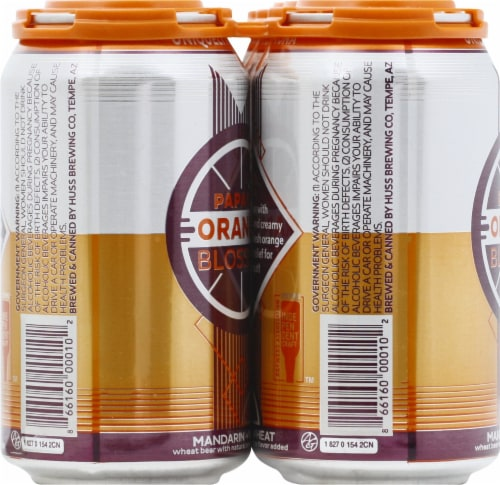 Papago Brewing Co. Orange Blossom Mandarin Wheat Beer Perspective: left
