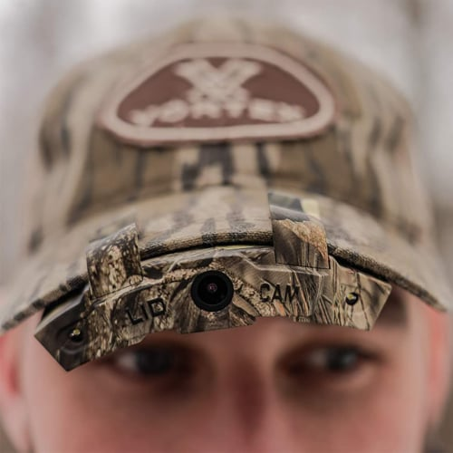 LIDCAM LC-WF Hat Mounted 1080P HD Action Camera with Full Audio and Wifi, Camo Perspective: left