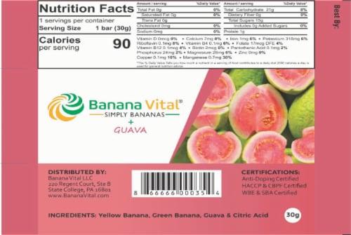 Banana Vital Simply Bananas Plus Guava Fruit Bar Box - 18 Bars Perspective: left