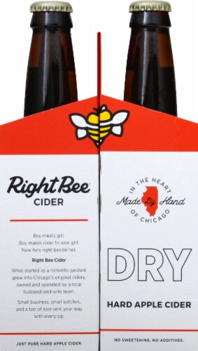 Right Bee Cider Dry Cider Perspective: left