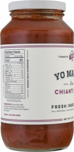 Yo Mama's Foods Divine Chianti Wine Tomato Sauce Perspective: left