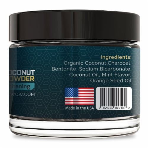 Active Wow Teeth Whitening Activated Coconut Charcoal Powder Perspective: left